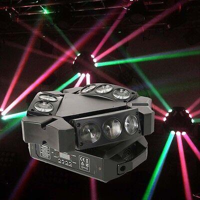 9X3W RGB 3in1 LED Spider Moving Head Light DMX512 Bar KTV Stage DJ Lighting
