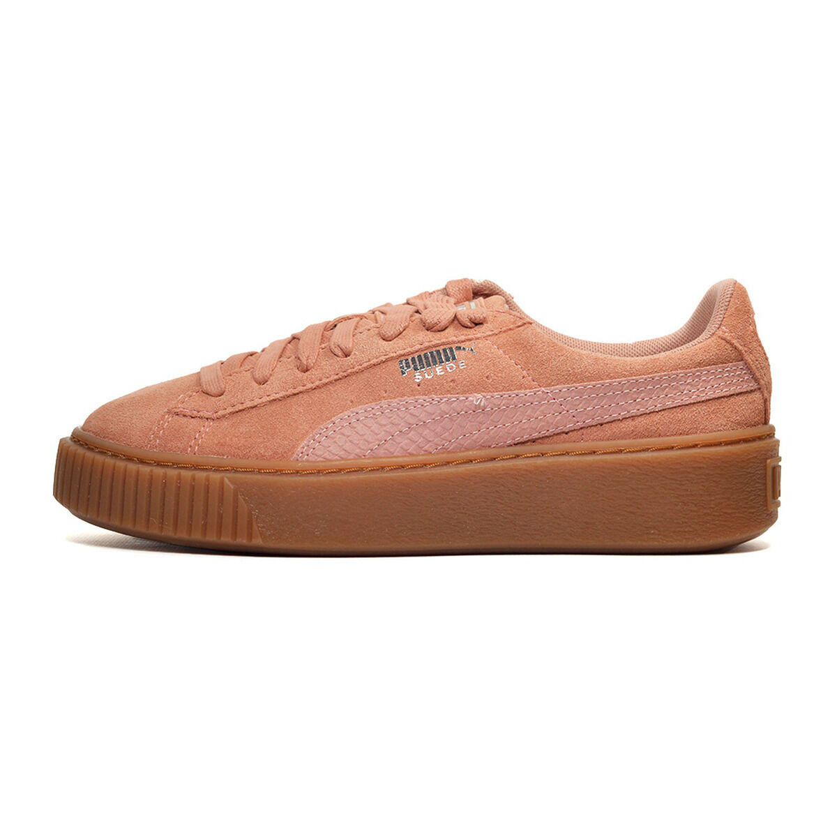 Puma Suede Platform Animal Cameo Brown Pink Gum Women Shoes Sneakers 365109 02 36
