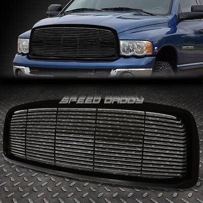 FOR 02-05 RAM 1500-3500 BLACK HORIZONTAL FENCE FRONT UPPER BUMPER GRILLE/GRILL