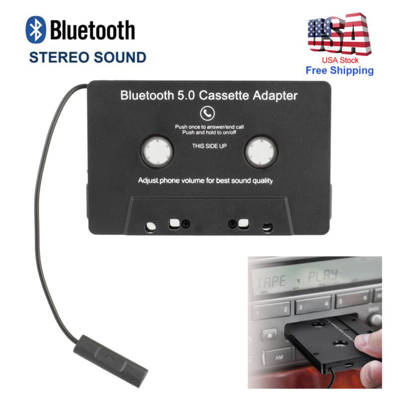 Black Car Audio Bluetooth 5.0 Cassette Music Adapter AUX Jack CD Tape Converter