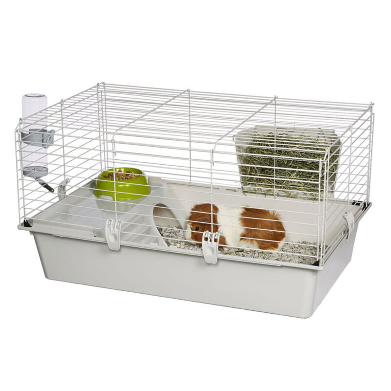 Ferplast Cavie Guinea Pig Cage w/ Water Bottle, Food Dish & Guinea Pig Hide-Out