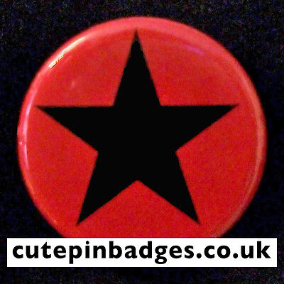 "Red Star Badge (25mm/1"") Pin Button Clash Punk Worn by Joe Strummer in Rude Boy"