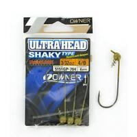 Owner Shaky Type Ultrahead Testina Piombata Con Spiral Hook 1/4 Oz. (7gr) Jig -  - ebay.it