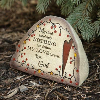 Messages from God decorative Garden Stone / MY CHILD/ nice garden stone