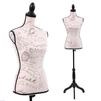 Female Mannequin Torso Designer Pattern Dress Form Display Wblack Tripod Stand