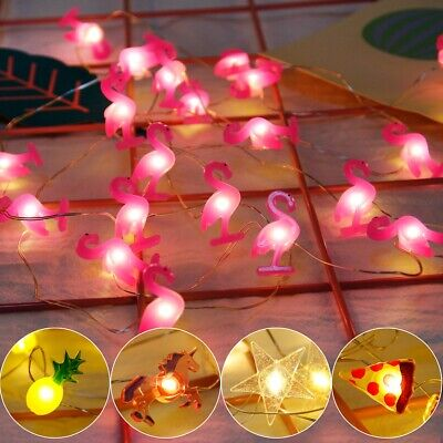 2M LED Flamingo String Light Kids Birthday Party Decor Pineapple Wedding Supply