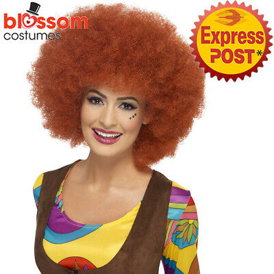 Decades Party Costumes (W538 Auburn 60s Afro 70s Hippie Disco Retro Costume Party Wig Hair Decade)