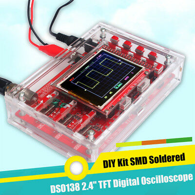 Dso138 2.4 Tft Lcd Digital Oscilloscope Kit Acrylic Case Diy Part Cover Smd Set