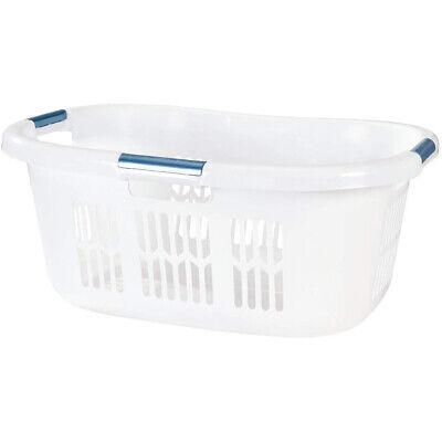 Newell Rubbermaid Home Hip Hugger Laundry Basket FG299587WHT