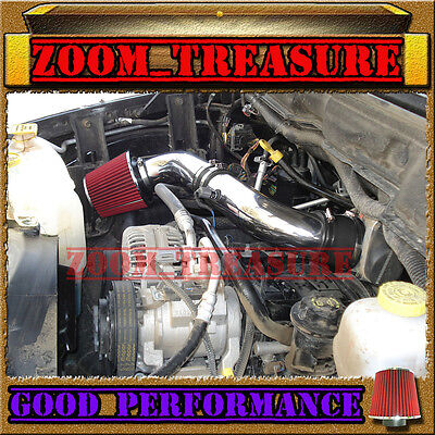 (BLACK RED 2003-2008 DODGE RAM 1500/2500/3500 5.7L V8 HEMI AIR INTAKE KIT S Type)