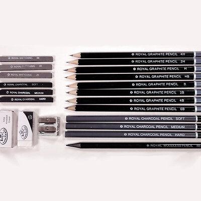 21 teiliges Set Graphitstifte Zeichenkohle Bleistifte zum Zeichnen Skizzieren