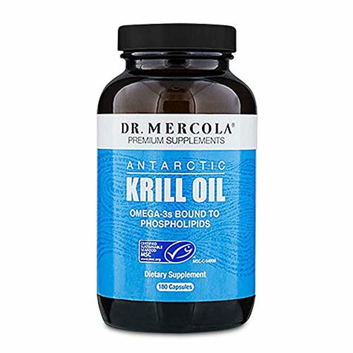 Dr. Mercola Antarctic Krill Oil - 180 Capsules - 1000MG Omeg