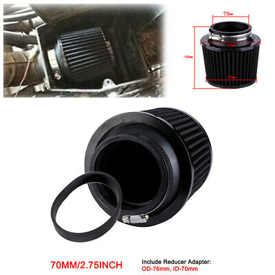 70mm Air Filter & Rubber Adapter Motorcycle Scooter Intake System Accessories