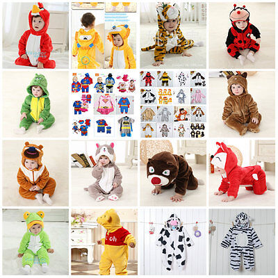 Baby Toddler Jungle Animal Cartoon Costumes Fancy Dress Playsuit Size 3-24months - Baby Animal Costumes