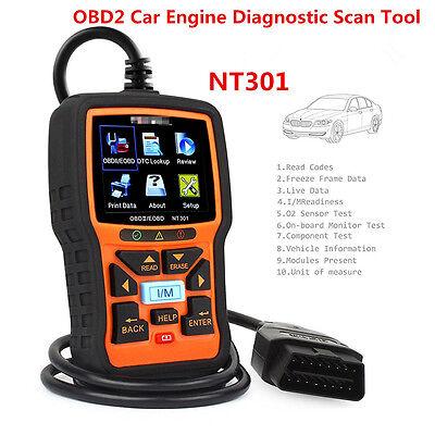 New Nt301 Car Obd2 Eobd Can Engine Fault Code Diagnostic Scanner Tool W Hot Keys