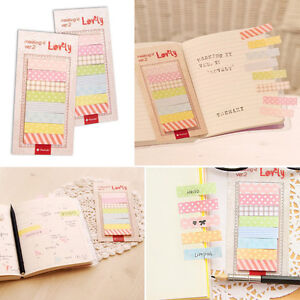 2x Cute 160 Sticker Flags Bookmark Page Marker Memo Index Tab Sticky Notes