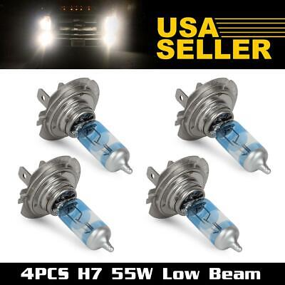 4x HALOPRO H7 64215 Low Beam Headlight Halogen Bulb 55W High Power 6000K White