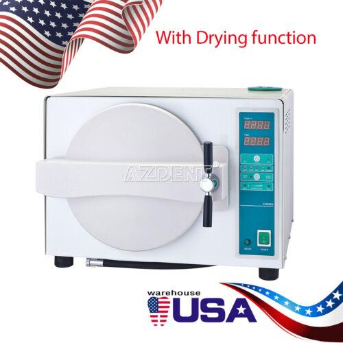 Autoclave Dental Steam Sterilizer Medical Sterilizition + Drying Function 18L US