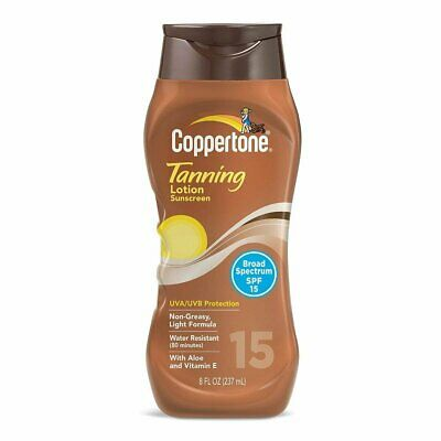 Coppertone Tanning Lotion SPF 15 - 8 oz, Pack of 4