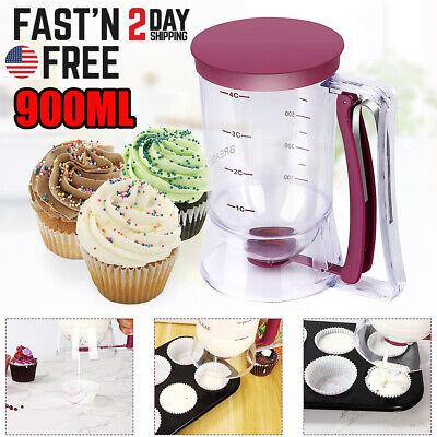 900ml Batter Dispenser Cupcake Pancake Muffin Kitchen Measuring Baking Mix Tool