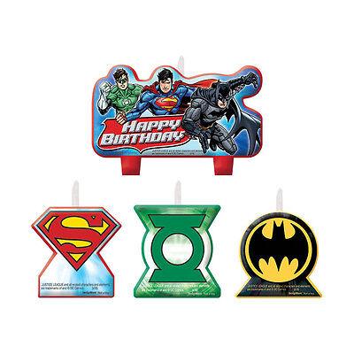 4 Piece Justice League DC Comics Birthday Party Cake Decoration Candles - Justice League Cake
