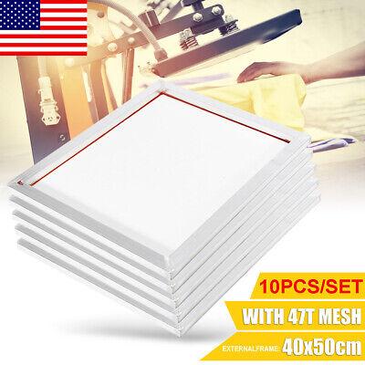 5pack -16x20 Aluminum Silk Printing Screen Frame 47t Mesh White Screens Tool