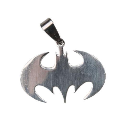 Unisex Women Men Bat Batman Silver Alloy Stainless Steel Charm Pendant Necklace 1