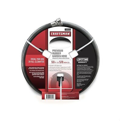 """Craftsman 5/8"""" x 50' All-Rubber Garden Hose Free Shipping New"""