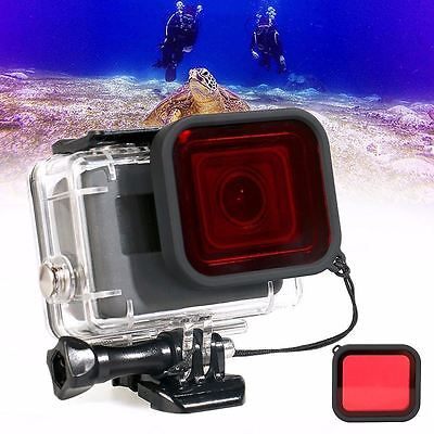 Waterproof Diving Scuba Red Filter Lens with Strap For Gopro Hero 5 & Hero 6