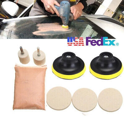 Cerium Oxide Glass Polishing Tool 3''  Wool Polishing Pad Felt Polishing Wheel