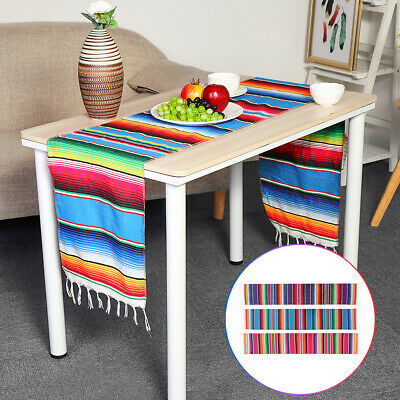 84x14'' Mexican Serape Table Runner Tablecloth Cotton Festival Party Home Decor](Serape Tablecloth)