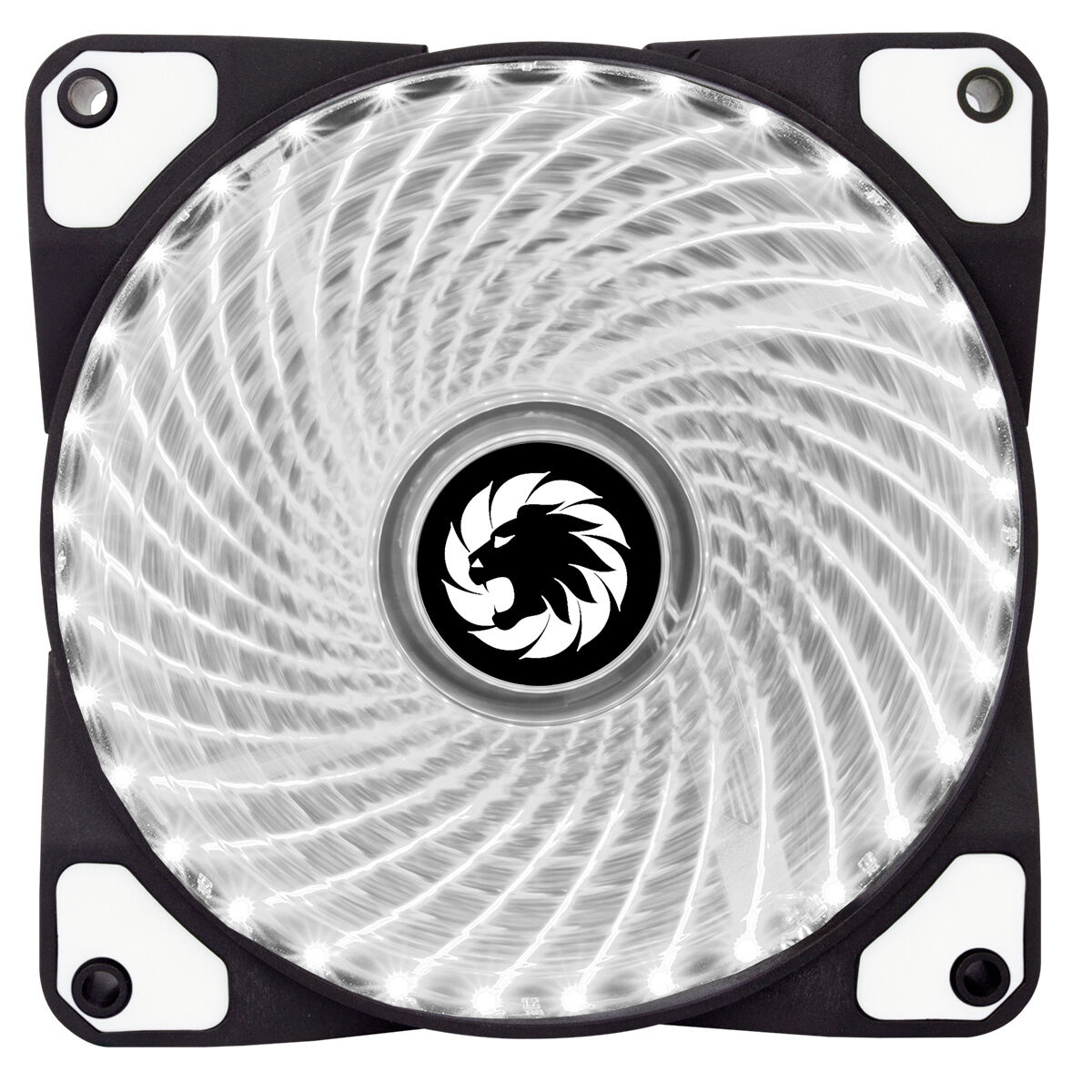 game max mistral 32 x white led 120mm fan pc 12cm case fan high
