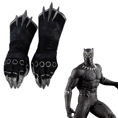 Black Panther Cosplay Claw Gloves Captain America 3 Civil War Costume Prop Adult - Captain America Accessories