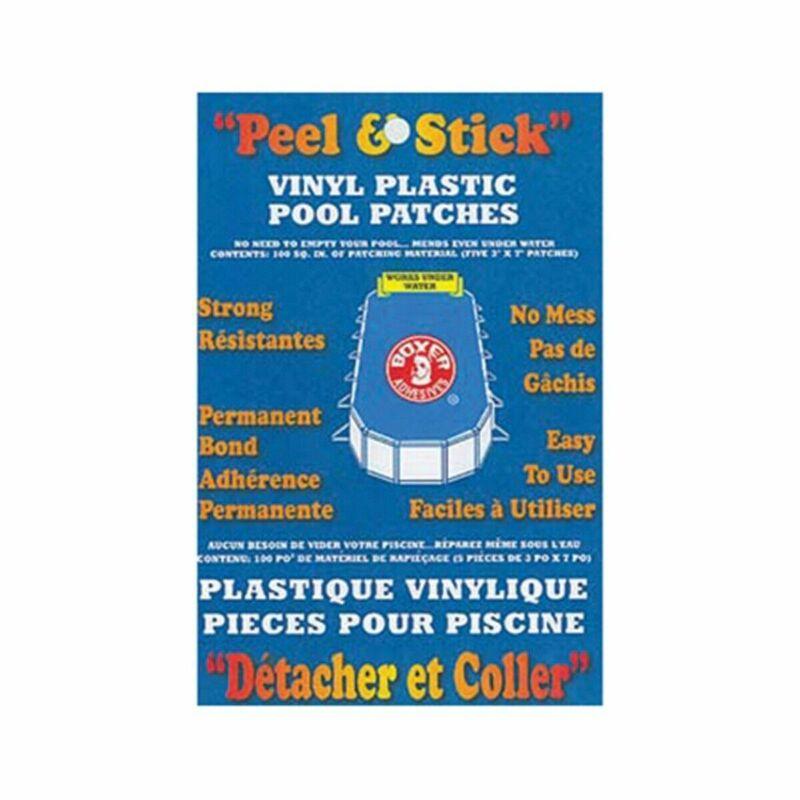 Brand New! Boxer Adhesives Peel & Stick Vinyl Plastic Pool Patch (100 sq. in)