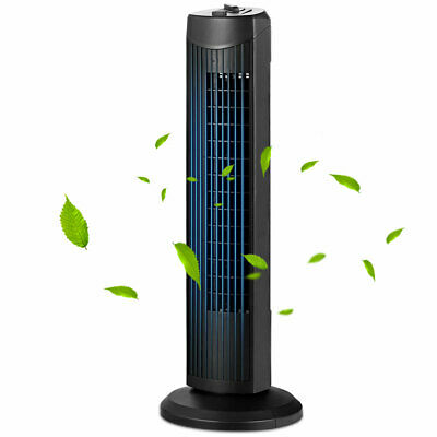 Fantask 35W 28'' Oscillating Tower Fan 3 Wind Speed Quiet Bladeless Cooling Room Heating, Cooling & Air