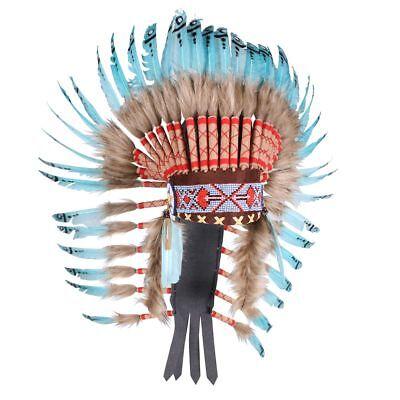 THE - Kostüm Zubehör Indianer Häuptling Kopfschmuck Karneval - Indianer Häuptling Kostüm Zubehör