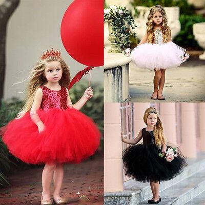 Kinder Mädchen Pailletten Tütü Kleid für Geburtstag Party Festkleid Hochzeit  (Pailletten-kleid Für Mädchen)