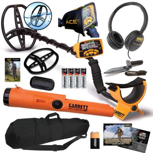 Garrett ACE 400 Metal Detector 2021 Spring Special, Propointer AT, Digger, Bag