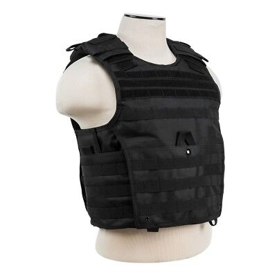 NcStar VISM BLACK Tactical MOLLE Operator Plate Carrier Body Armor Chest Rig - Chest Plate