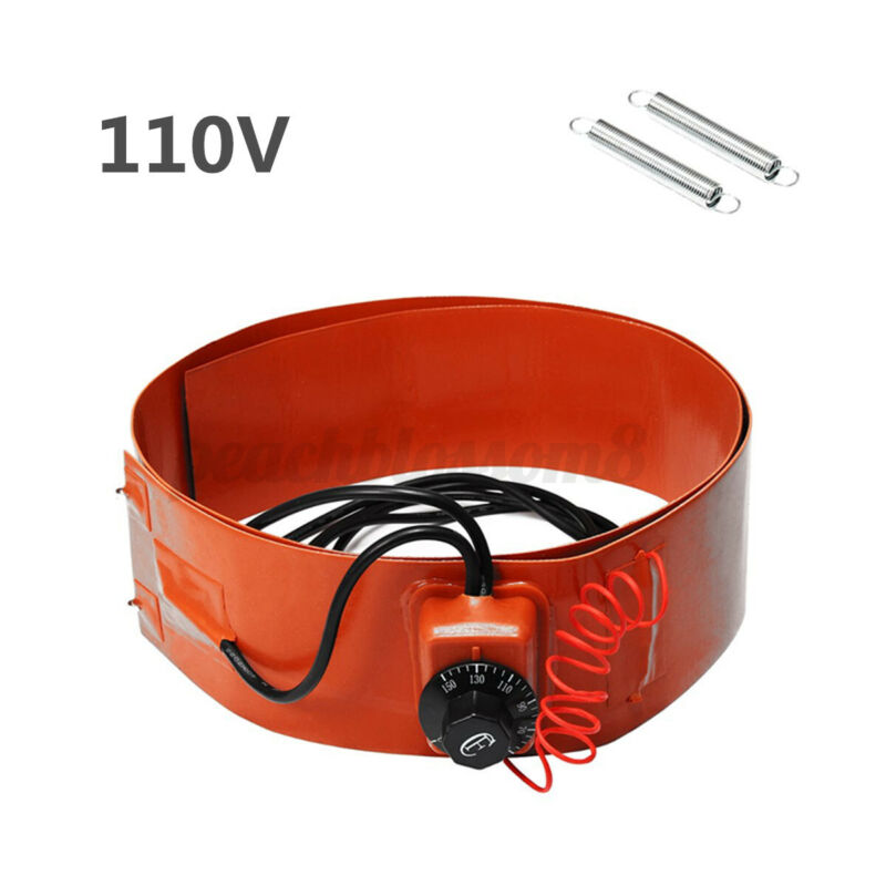 700W Silicone Drum Heater Energy Biodiesel Equipment Thermostat Control 110V