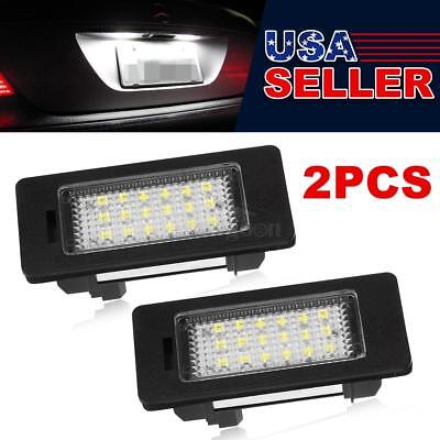 2x Ultra White LED Car Trunk License Plate Lights Set for BMW E39 E60 E90 etc.