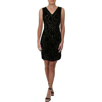 Lauren Ralph Lauren Crewly Women's Velvet Floral Lace Sleeveless Cocktail Dress