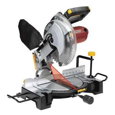 Compound Miter Saw Precision Cross Bevel Cuts Laser Guide System 10 In.