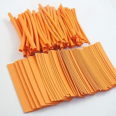 135pcs Pro-kit 4 Shrinkable Ratio 21 Heat Shrink Tubing Sleeve 7 Sizes Orange