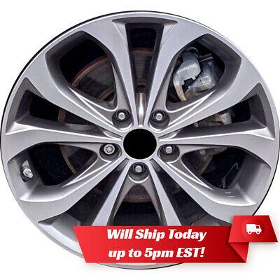 "New 18"" Machine Grey Alloy Wheel Rim for 2013 2014 Hyundai Sonata - 70843"