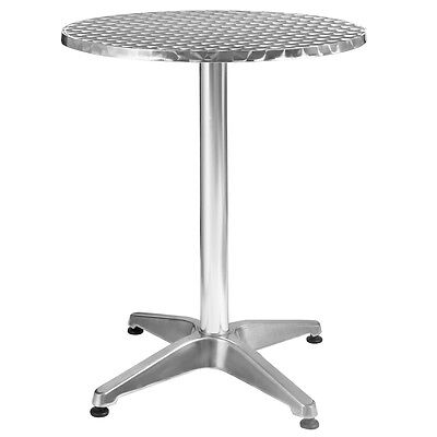 Aluminum Stainless Steel Round Table 23 12 Patio Bar Pub Restaurant Adjustable