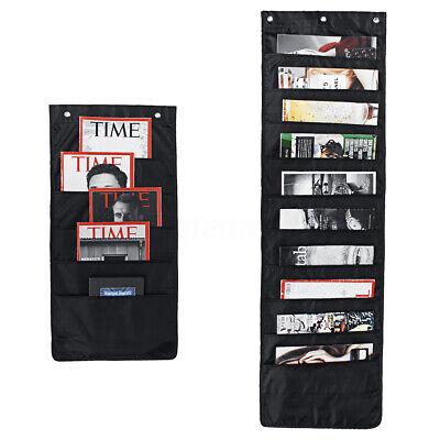 Cascading File Holder Organizer Wall Mount Hanging Paper Folder Desk Home Office