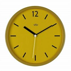 Wild Wood Vintage Hanging Round Wall Clock - English Mustard (Yellow)