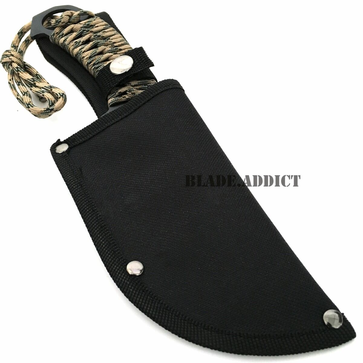 """10"""" TACTICAL Army SURVIVAL Rambo Hunting FIXED BLADE KNIFE Bowie w/ SHEATH NEW"""