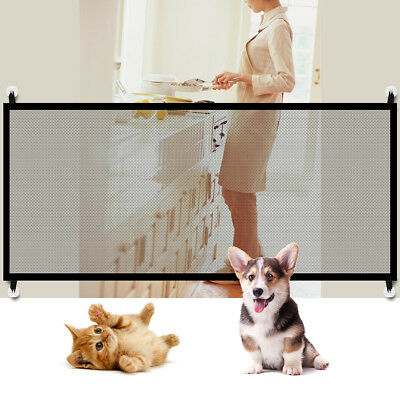 Portable Folding Mesh Magic Dog Gate Guard Safety Enclosure Fence For Pet Puppy